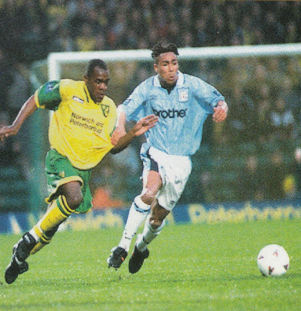 norwich away 1996 to 97 action