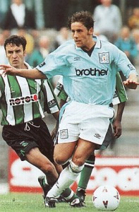 plymouth away friendly 1996 to 97 action2
