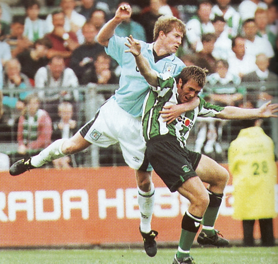 plymouth away friendly 1996 to 97 action3
