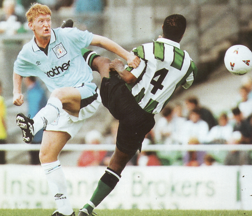 plymouth away friendly 1996 to 97 action4