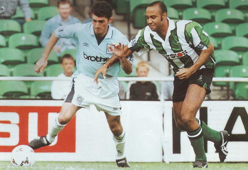 plymouth away friendly 1996 to 97 action5