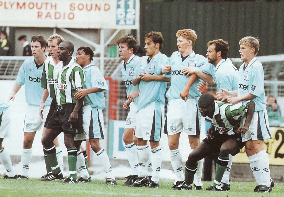 plymouth away friendly 1996 to 97 action6