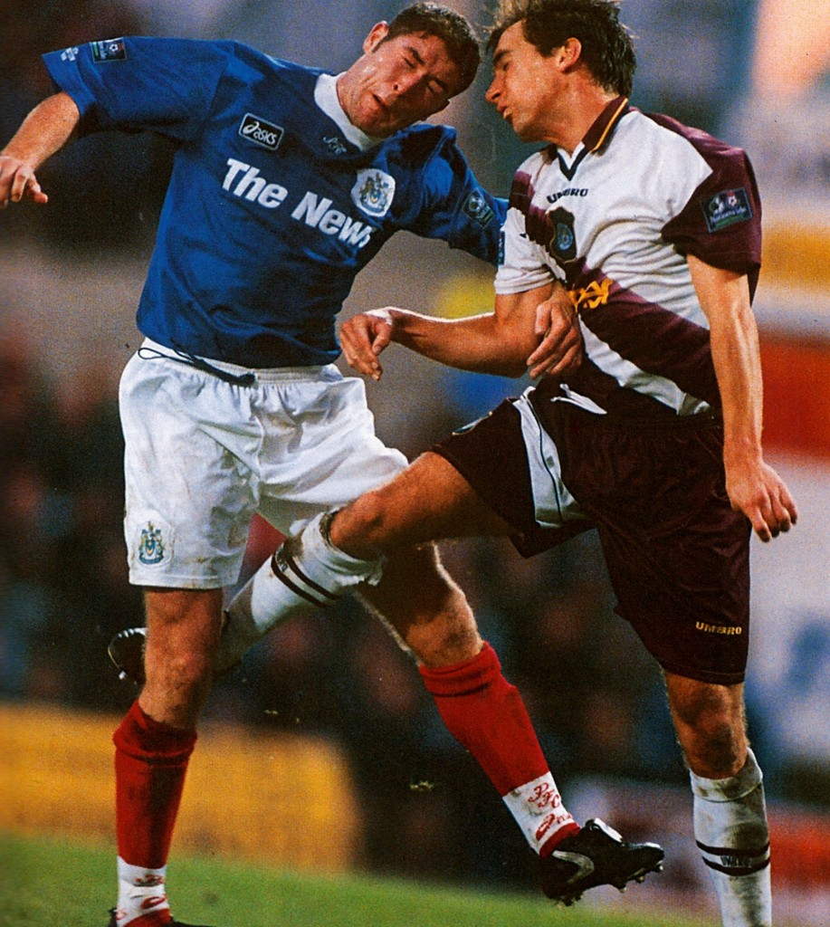 portsmouth away 1996 to 97 action7