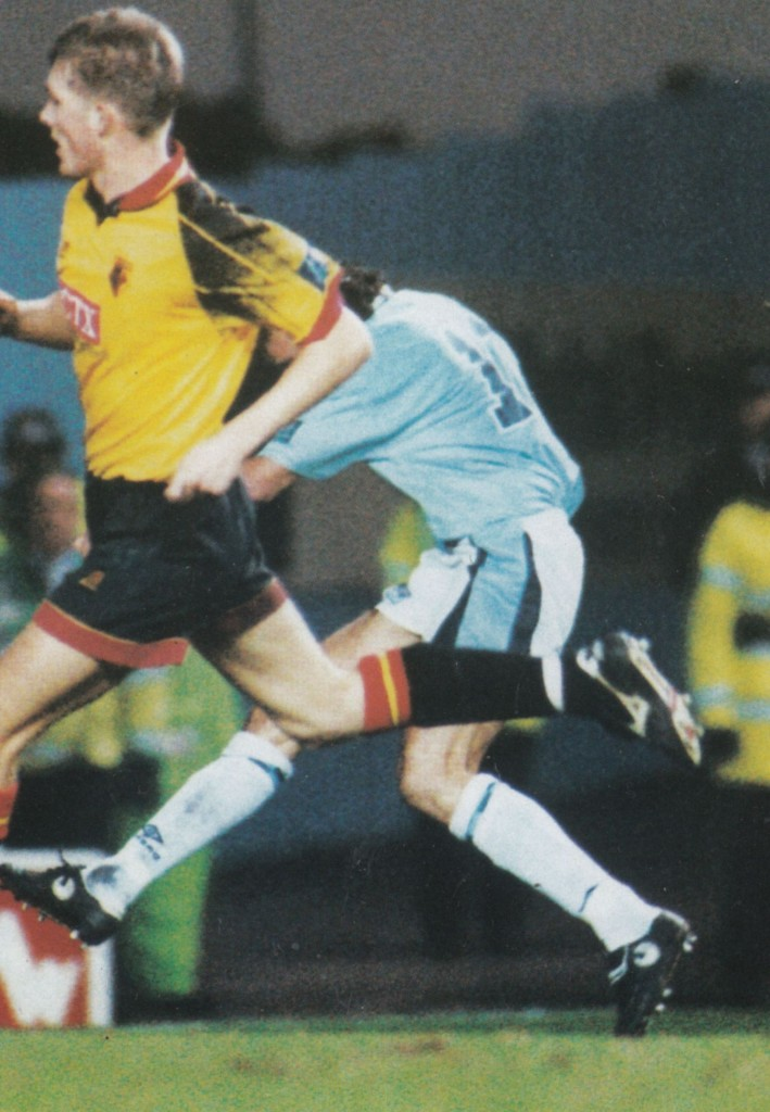 watford fa cup 1996 to 97 rosler goal3