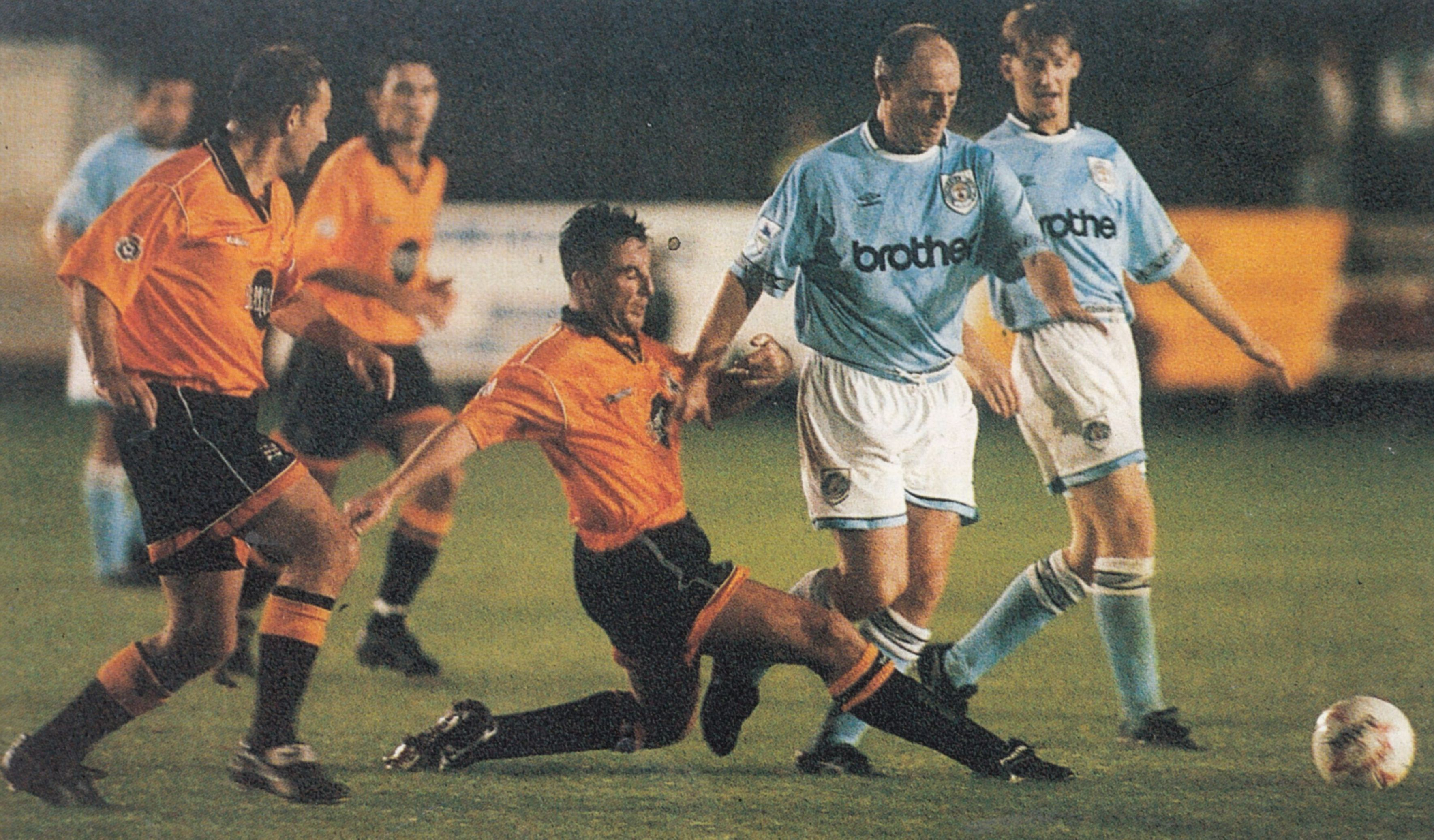 barnet away 1994 to 95 action5