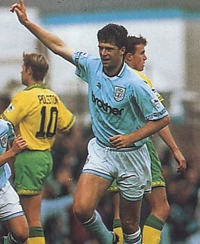 norwich home 1994 to 95 quinn goal