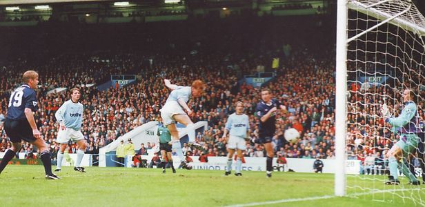 spurs home 1994 to 95 lomas goal