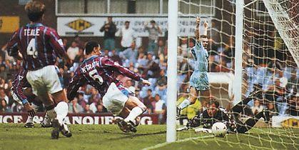 Aston Villa Away 1994 to 95 rosler goal