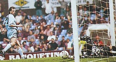 Aston Villa Away 1994 to 95 rosler goal2