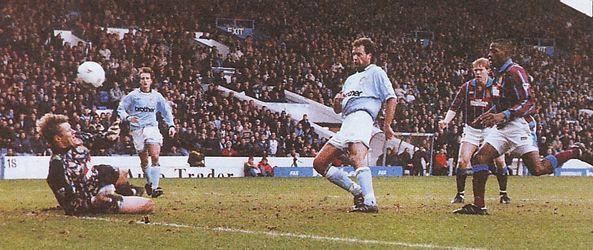 aston villa home 1994 to 95 1st rosler goal