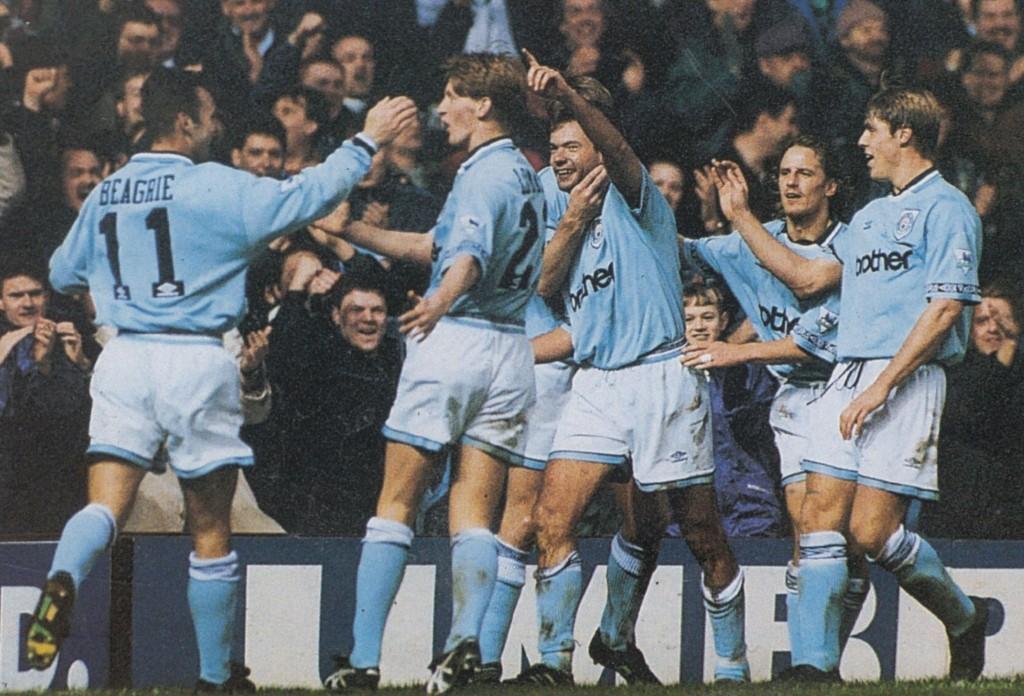 aston villa home 1994 to 95 2nd rosler goal 5