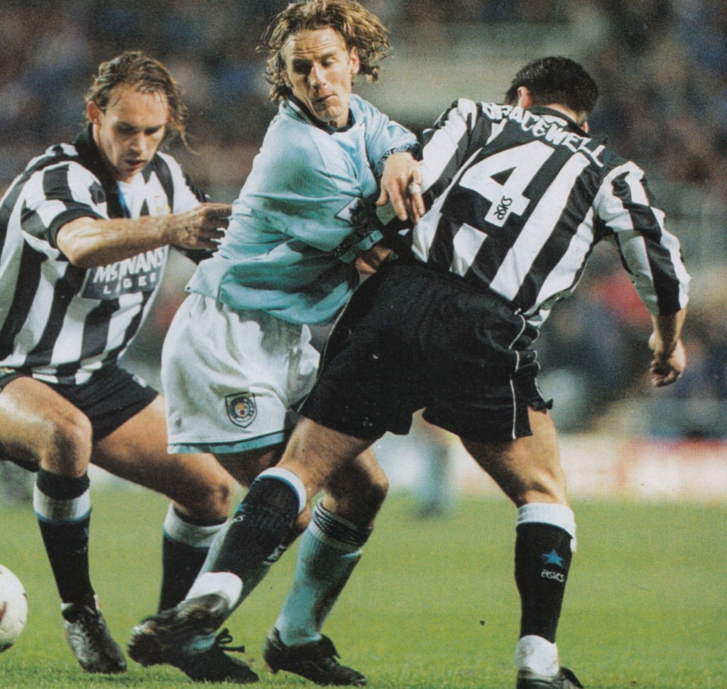 newcastle away lge cup 1994 to 95 action6