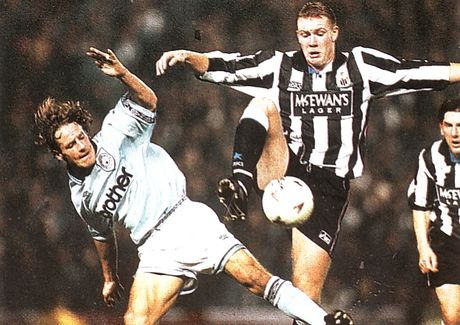 newcastle home cola cup 1994 to 95 action