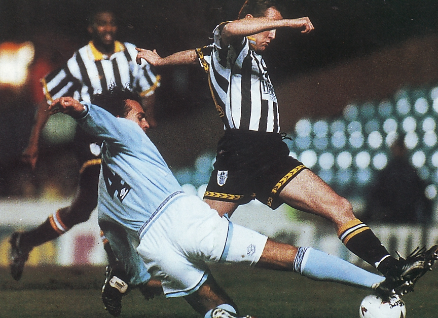 notts county fa cup replay 1994 to 95 action