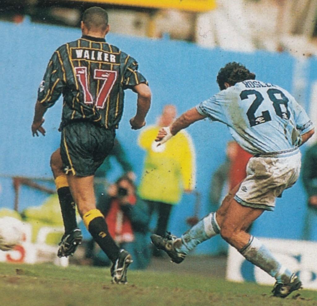 sheff weds home 1994 to 95 rosler goal4