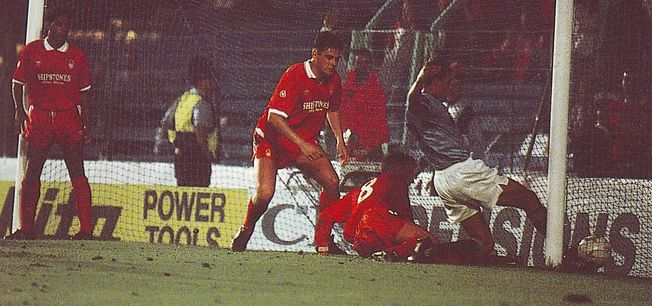 notts forest home 1991 to 92 quinn goal