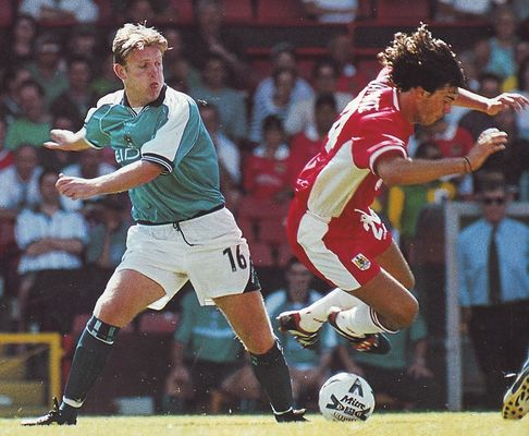 Bristol city friendly 1999 to 00 action