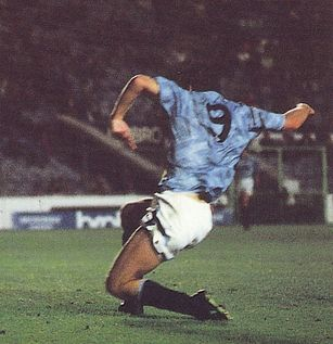chester home rumbelows cup 1991 to 92 quinn citys 3rd goal
