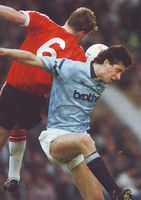 man utd home 1991 to 92 action