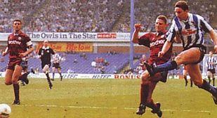 sheff weds away 1991 to 92 hirst goal