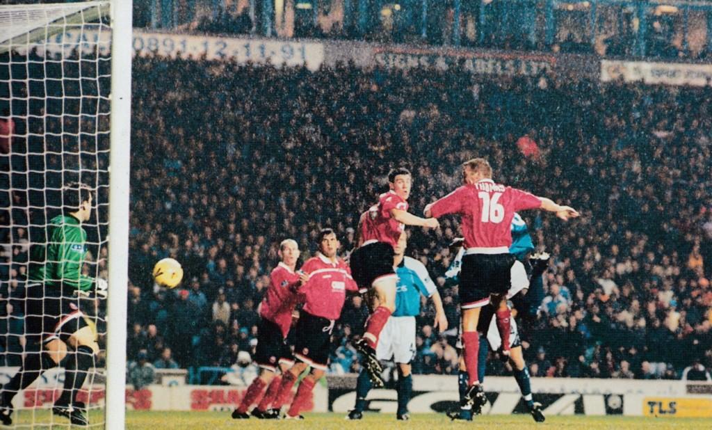 barnsley home 1999 to 2000 goat goal6