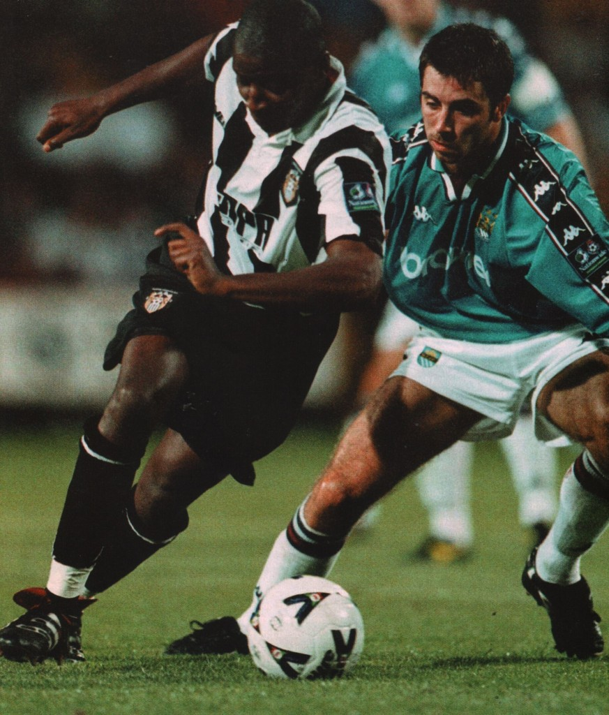 notts county away worthy cup 1998 to 99 action