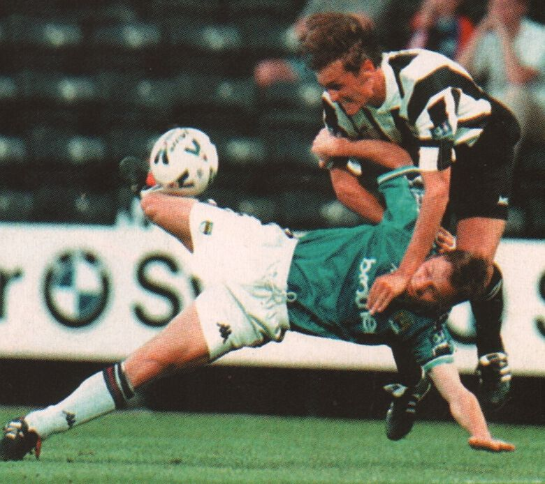 notts county away worthy cup 1998 to 99 action3