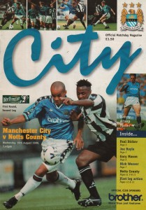 notts county home worthy cup 1998 to 99 prog