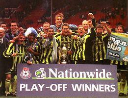 Gillingham playoff final 1998 to 99 team celebrates