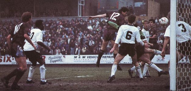 PORT VALE FA CUP 1990 to 91 allen goal