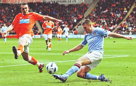 blackpool away 2010 to 11 action
