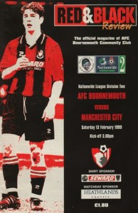 bournemouth away 1998 to 99  prog