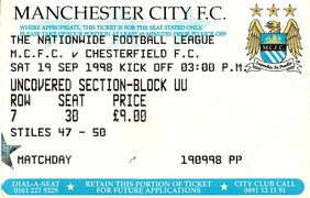 chesterfield home 1998 to 99 ticket