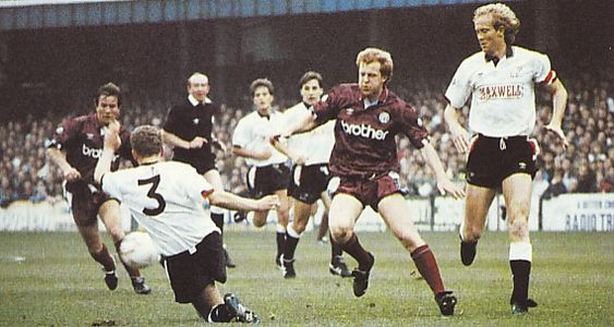 derby away 1990 to 91 action