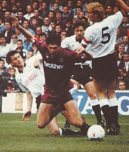derby away 1990 to 91 quinn fouled for pen