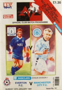 everton away 1990 to 91 prog
