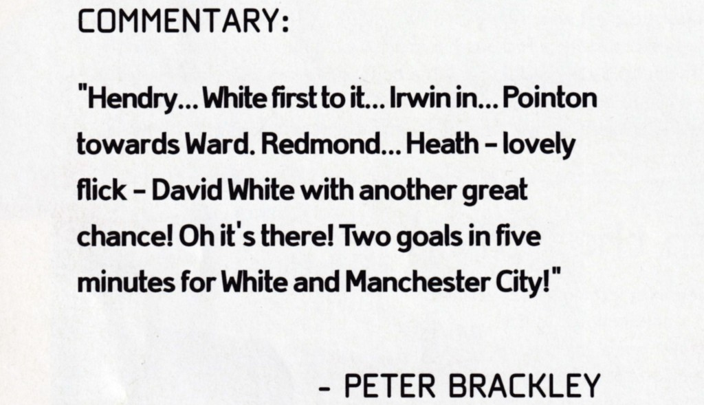man utd home 1990 to 91 2nd white goal commentary