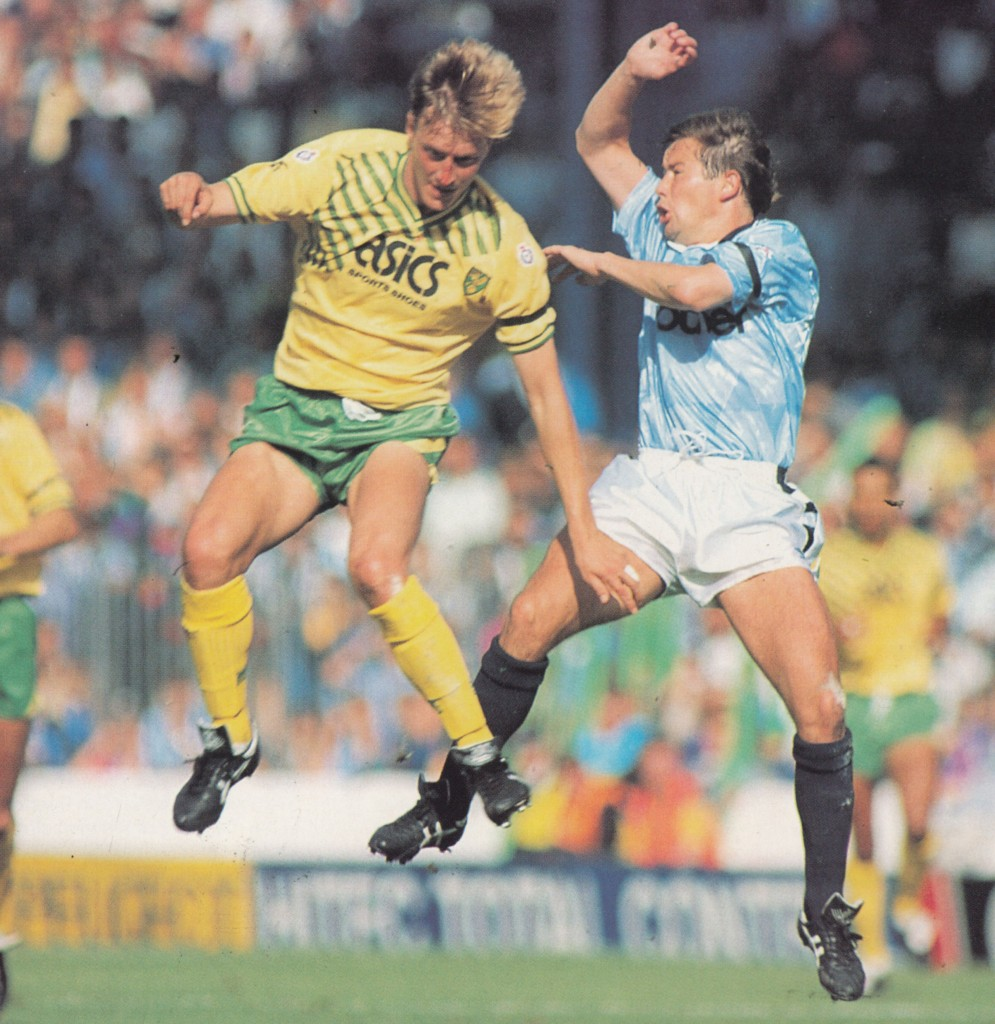 norwich home 1990 to 91 action7