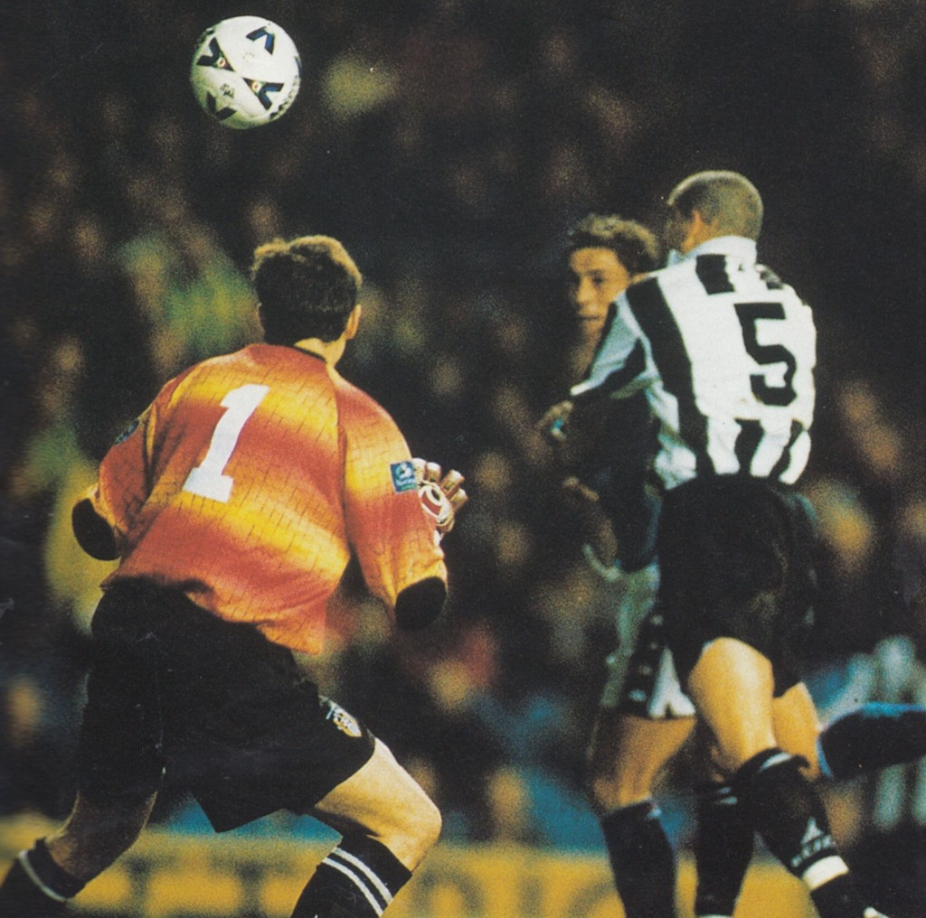 notts county home 1998 to 99 action brown goal