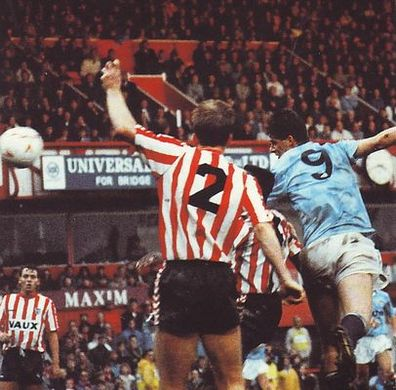 sunderland away 1990 to 91 action