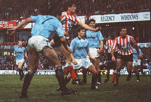 sunderland away 1990 to 91 white goal