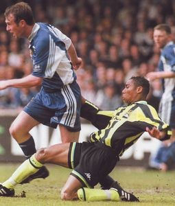 wigan away play off 1998 to 99 action