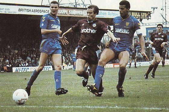 wimbledon away 1990 to 91 action
