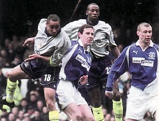 everton away 2000 to 01 jff whitley goal