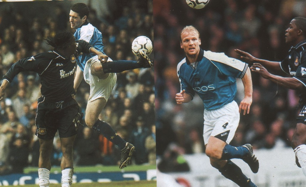 west ham home 2000 to 01 action