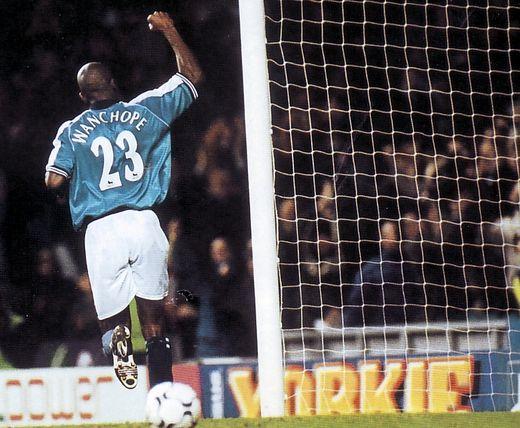 wimbledon home 2000-01 worthy cup wanchope goal