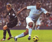 aston villa home 2010 to 11 action