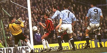 blackburn home 1992 to 93 sheron goal
