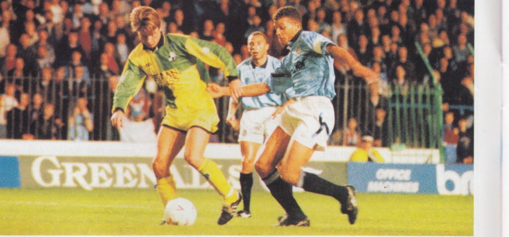 bristol rovers lge cup home 1992 to 93 action11