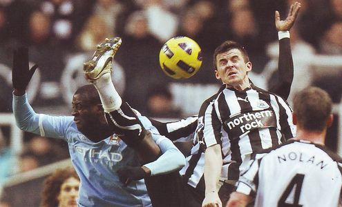 newcastle away 2010 to 11 action